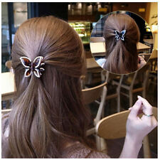 1x Hairclip Accessories Butterfly Hairpin Rhinestone Crystal Clamp Beautiful ZWR
