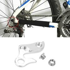 MTB Bicycle Frame Rear Derailleur Mech Hanger Dropout with Nut and Bolt Silver