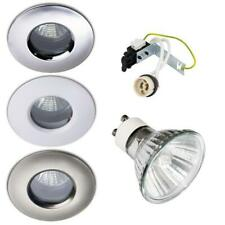 4 X 50W HALOGEN IP65 SOFFIT OUTDOOR / BATHROOM SHOWER DOWNLIGHTS GU10 240V