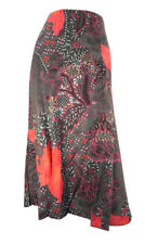 Marks & Spencer Coral & Coffee Print Panel Flippy Skirt with Elasticated Waist