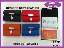 Genuine Leather Card Holder holds 52 Business ID Credit  Wallet Purse Toggle