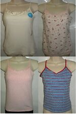 Girls JUSTICE Cream Pink So Pink Faded Glory Blue Cami Tank Top 10-12 12-14 & 16