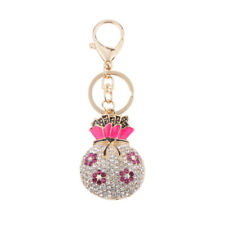 Rhinestone Crystal Bag Pendant Keyring Keychain Christmas Birthday Women Gifts