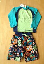 NWT Gymboree Boys Swimsuit Rash Guard Swim trunk Set SZ 5 7  Swim Shop Beach
