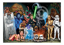 STAR WARS artwork print caricature Episode 6 A3/A4 sizes signed