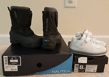 SET OF 2 SIZE 8 TODDLER BOYS JORDANS AND NAUTICA SNOW BOOTS