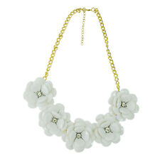 5X(jewelry Zinc alloy with acrylic perfect Five flower necklace necklaces) L3