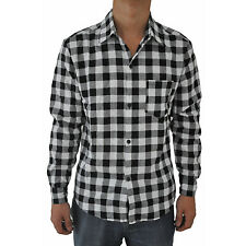 5X(Mens Vintage Plaid Long Sleeve Shirt Slim Fit Shirts for Men) L3