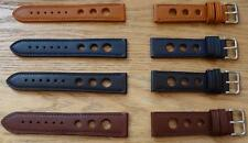 VINTAGE  LEATHER WITH HOLES STRAP BAND RALLY RACING  Distressed TO FIT TAG HEUER