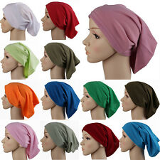 2016 muslim scarf shawl Hijab Underscarf Caps Turban Women's Bonnet pure colours