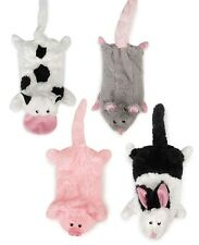 Stuffing Free Dog Toys, Cow Pig Rabbit Opossum Mole, Farm Friend Unstuffies