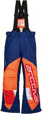 ARCTIVA Snow Snowmobile Kids 2017 COMP Insulated Bibs (Navy/Orange) Choose Size