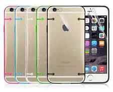 Clear Hard Back Silicone GENUINE TPU Bumper Cover Case For Apple iPhone 6 6 Plus