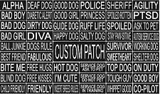 Custom Personalized Velcro Removable Patch Label Tag For Dog Harness and Collar