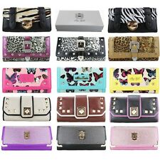 Ladies Designer Animal Print Purse Evening Clutch Bag Leather Wallet GIFT BOXED