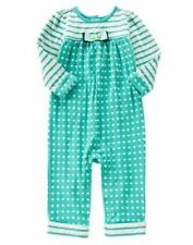 Gymboree Tiny Teal Green Dots and stripes Romper SZ 12 18-24months  NEW