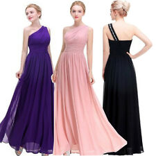 Elegant Chiffon Long Formal Ball Gown Bridesmaid PURPLE Evening Party Prom Dress