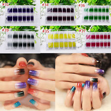 Nail Wraps Foils Stickers Art Decals Glitter Transfers Manicure Tips Decoration