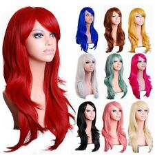 "23"" Curly Wavy Long Cosplay Wig Red/Pink/Blonde Kanekalon Fiber Anime Party Wigs"