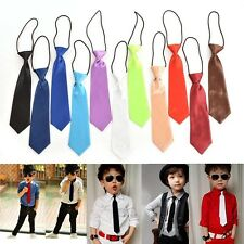 1 X Children Kids Elastic Neck Tie School Boys Necktie Wedding Party JB
