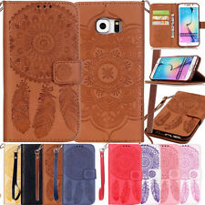 Flip Embossed Belt Card Wallet Leather Case Skin Cover for iphone Samsung Galaxy