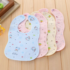 Kids Toddler Waterproof Cartoon Lunch Bibs Infant Baby Soft Saliva Towel Bib New