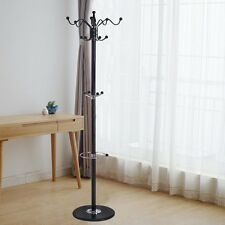 "15 Hooks 70"" Metal Coat Hat Stand Tree Holder Hanger Rack w/ Marble Base"