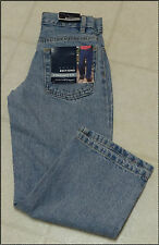 Boys Straight Fit Adjustable Waist Blue Jeans-NWT