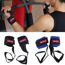 2 Pcs Men Weight Lifting Bar Straps Gym Bodybuilding Wrist Support Wraps Bandage