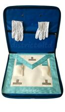 masonic regalia-CRAFT WORSHIPFUL/PAST MASTER (WM) APRON + SLIM CASE+FREE GLOVES