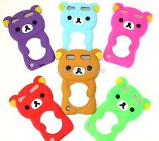 For Apple ipod touch 5 5Gen 1x3D Cute Teddy Bear Silicone Rubber Back Case Cover