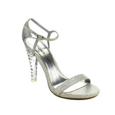 """FABULICIOUS CLEARLY-425 Women's Hot 4 1/2"""" Heel, Closed Back Ankle Strap Sandal"""