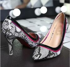 Star with serpentine pointed high heels shoes fine with shallow mouth single sho