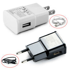 5V 2A Universal AC Travel Power Wall Charger Adapter USB Plug /Micro Cable