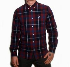 Fred Perry Modernist Check Shirt Mens Long Sleeve