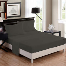 ELEPHANT GREY 1000TC EGYPTIAN COTTON BEDDING ITEM SHEET/DUVETS/FITTED ALL SIZES