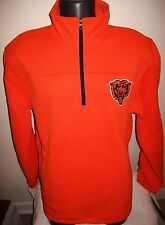 Chicago BEARS Pull Over Thermal Jacket Fleece Lining M L XL 2X ORANGE Retail $79