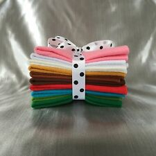 Mix Felt Craft Pack Christmas Colours (10 sheets) in 5 different sizes