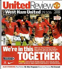 Manchester United Home Programmes 2005/2006