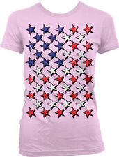 American Flag All Fourth July Red White Blue Colors Pride USA Juniors T-Shirt