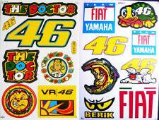 VR46 Valentino Rossi THE DOCTOR stickers decals multicolor - set of 2 sheet