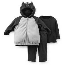 NWT-Boys Carters Black Bat Bubble Plush Hooded Halloween Costume-12, 18, 24 mths
