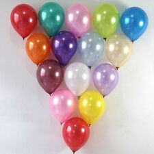 "100 PCS 10"" Pearl Latex Balloons Wedding Birthday Party Valentine's Day Balloon"