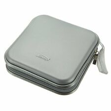 10X(XIONGYE 40 Disc CD/VCD/DVD Case Storage Organizer Bag Album Box (Silver L3