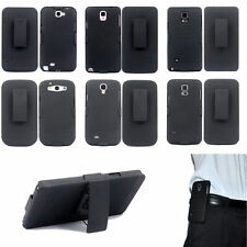 Hybrid Belt Clip Shell Holster Hard Stand Case Cover for S8 4 5 6 7 Note 2 3 4 5