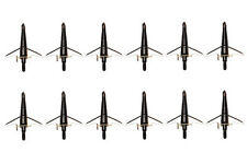 """100Grain Cut 1.75"""" Black Swhacker Broadheads For Compound bow and Crossbow"""