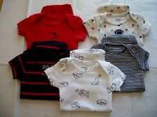 CARTER'S 5 PACK BABY BOY'S BODYSUITS  NWT BLUE RED PUPPIES SPORTS SO CUTE