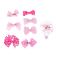 Pack of 8 Girls Baby Kids Children Hair Accessories Bow Snap Pins Clips Slides