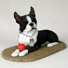 Boston Terrier Statue Figurine Home Decor Yard & Garden Dog Products & Dog Gifts