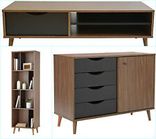Vintage Retro Furniture Sideboard Chest TV Unit Bookcase Luxury Wooden Stand New